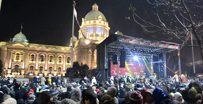 Docek Nove godine na Trgu Beograd 2018