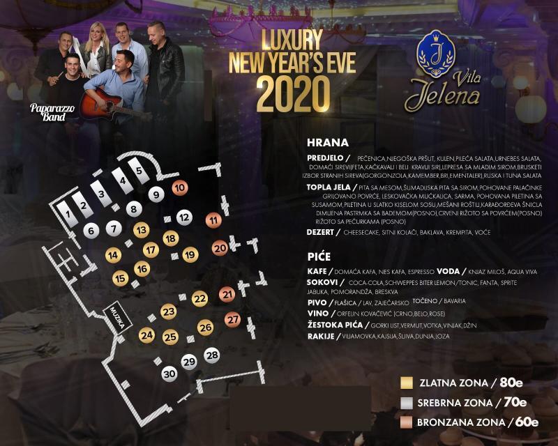 Paparazzo bend za doček Nove 2020. godine u Vili Jelena