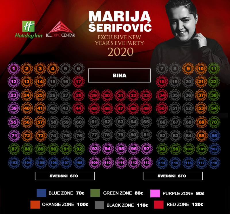 Marija Šerifović za doček 202 godine u hotelu Holiday Inn