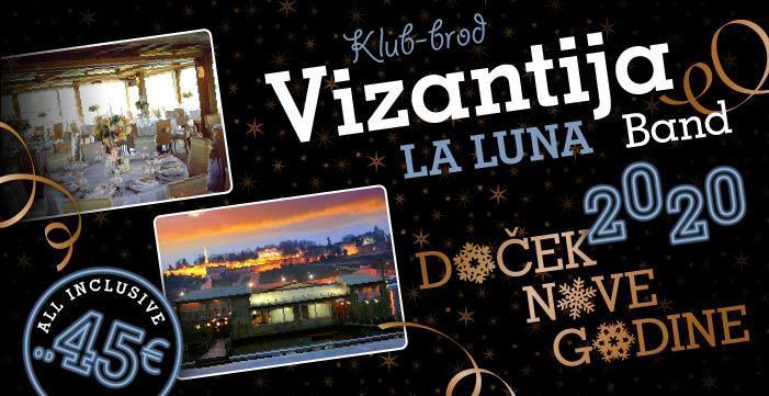 La Luna Band za doček Nove 2020. godine na splavu Vizantija