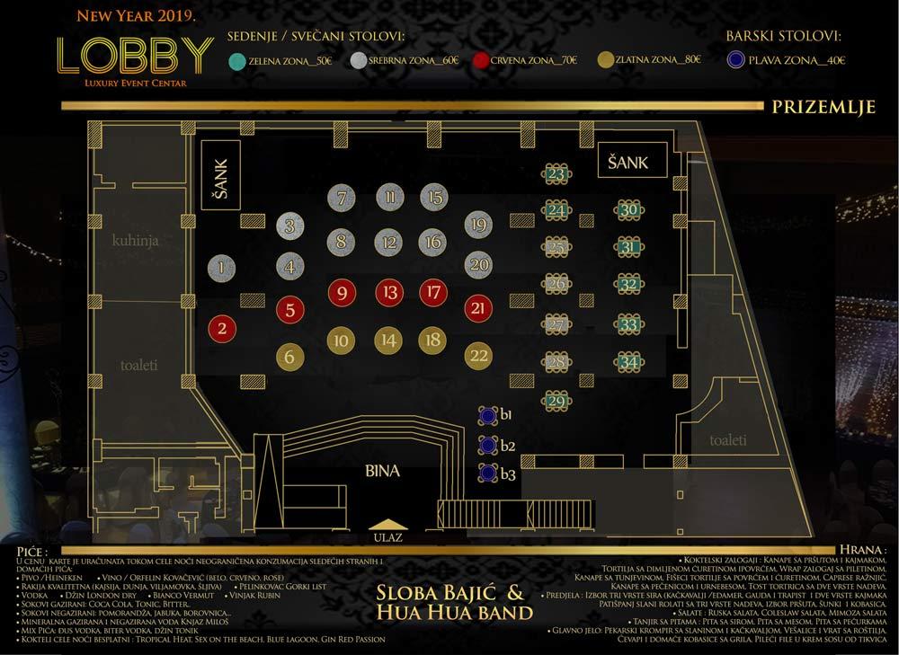 lobby event centar docek nove godine mapa