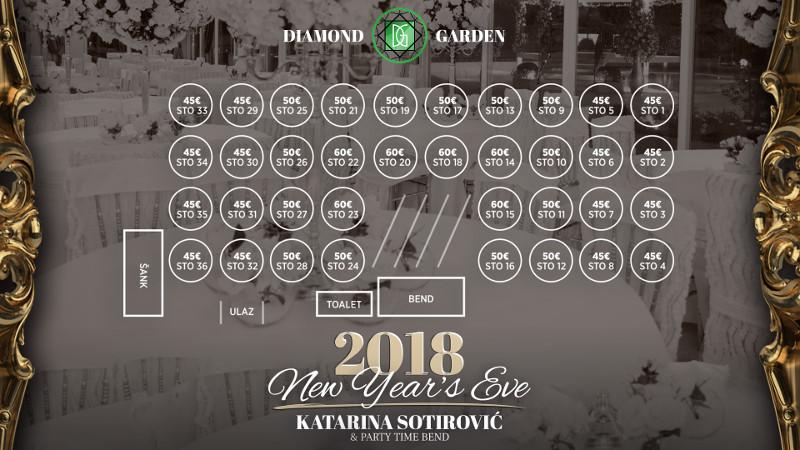 restoran diamond garden docek nove godine
