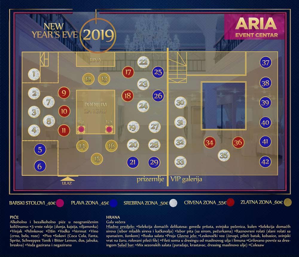 mapa aria event centar