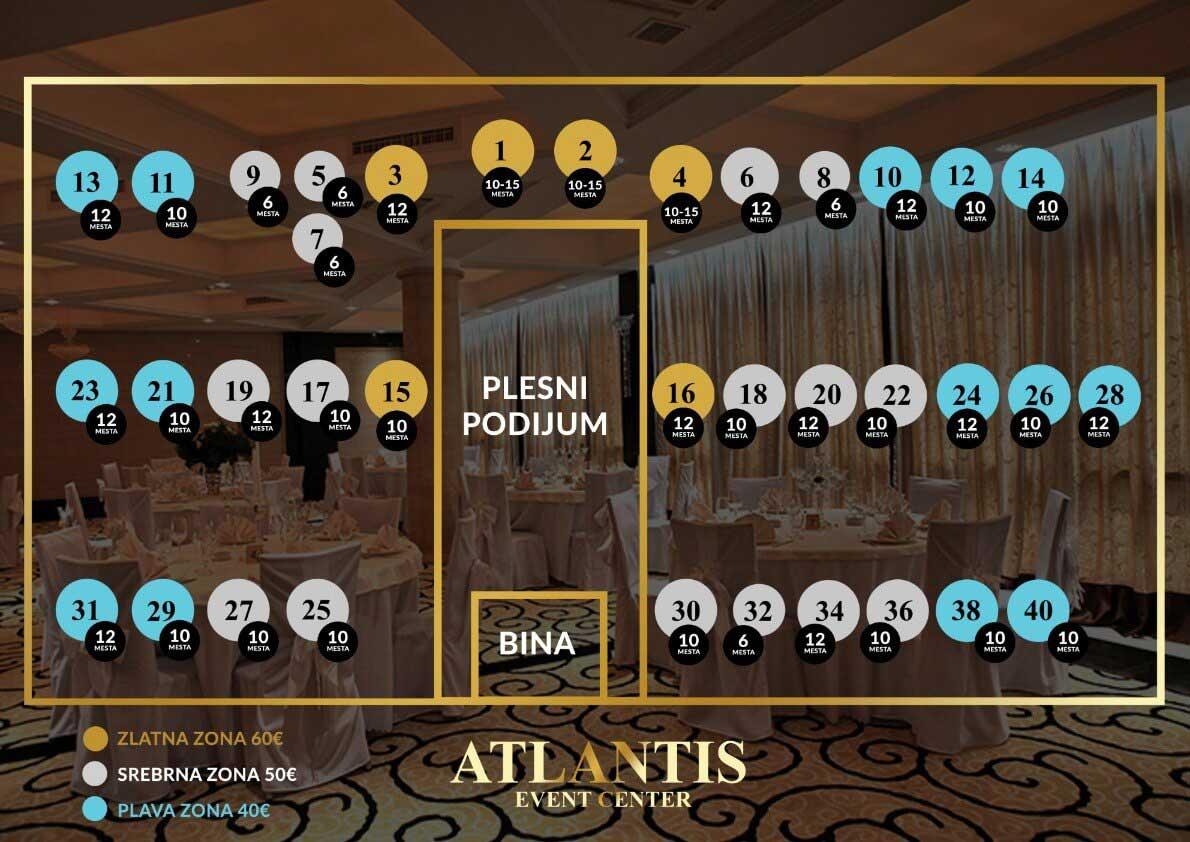 atlantis event centar mapa