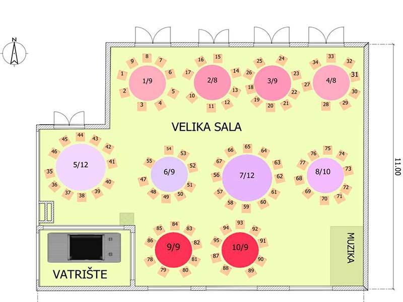 etno restoran curan nova godina mapa sedenja velika sala