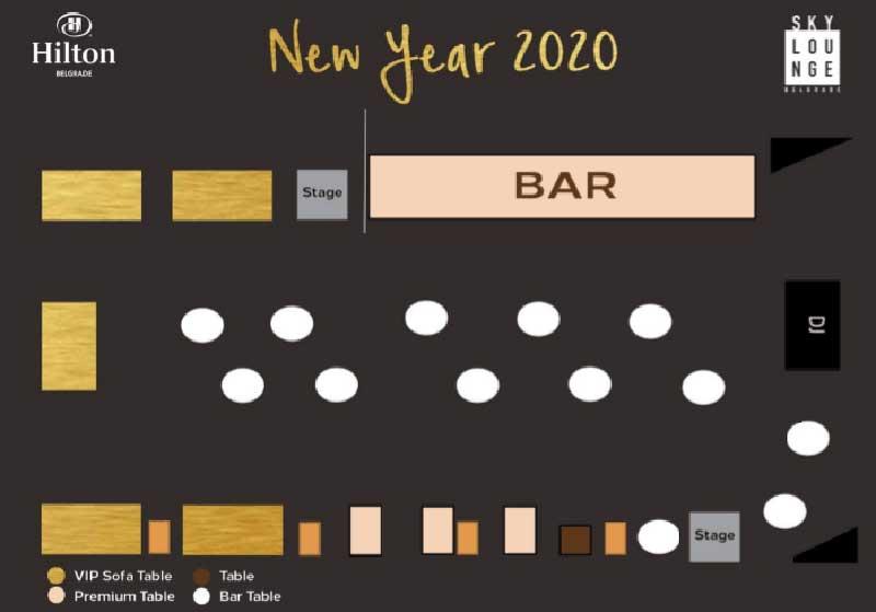 hotel hilton mapa sedenja nova godina