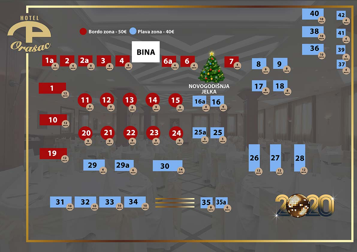 hotel orasac nova godina mapa sedenja