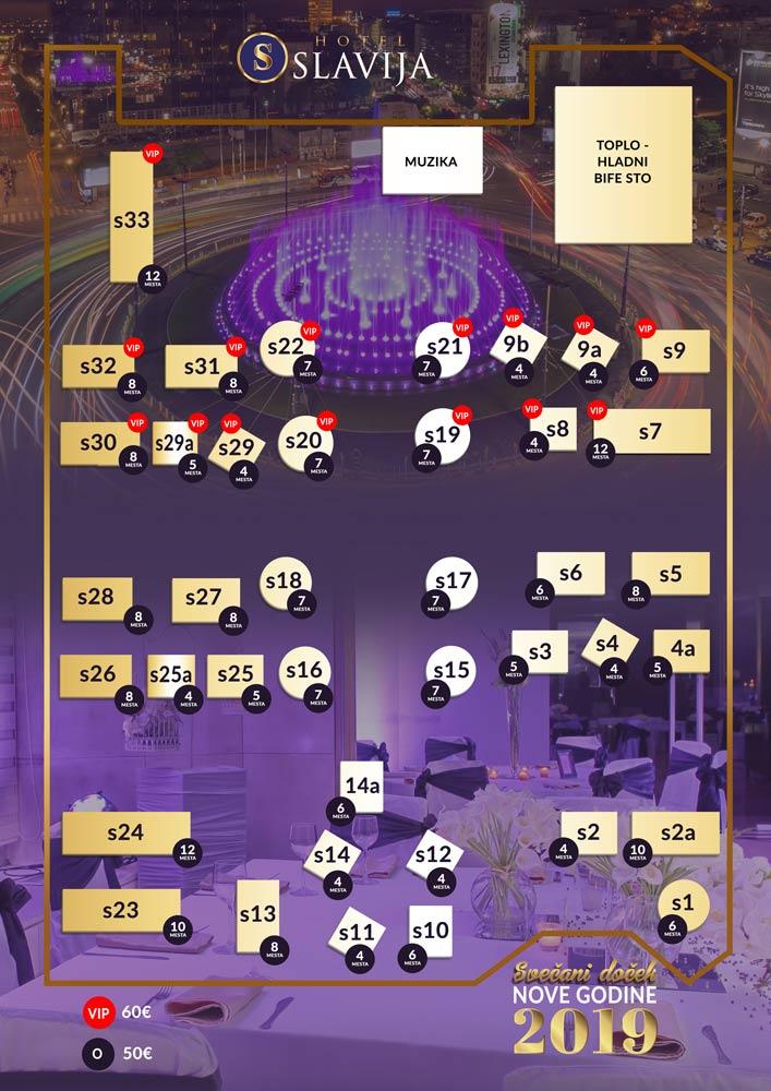 hotel slavija mapa