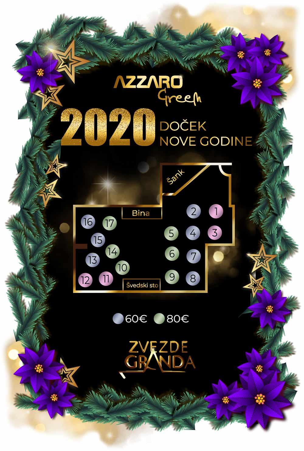 jezero azzaro green sala nova godina mapa sedenja