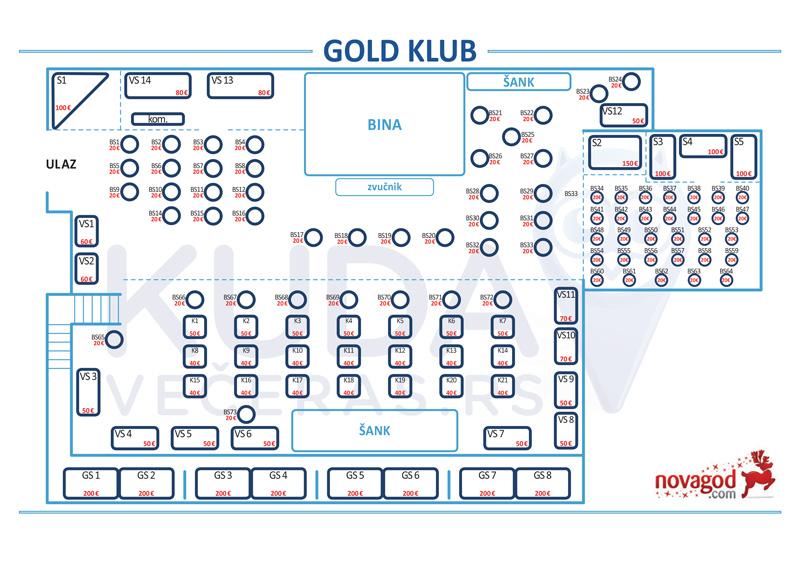 klub gold nova godina mapa sedenja
