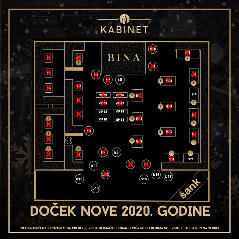klub kabinet nova godina mapa sedenja