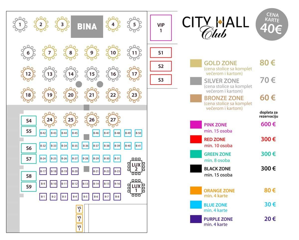 klub restoran  city hall nova godina mapa
