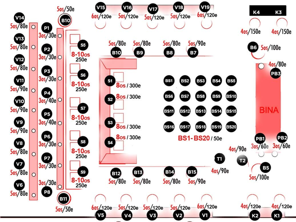 klub teatro nova godina mapa sedenja prizemlje