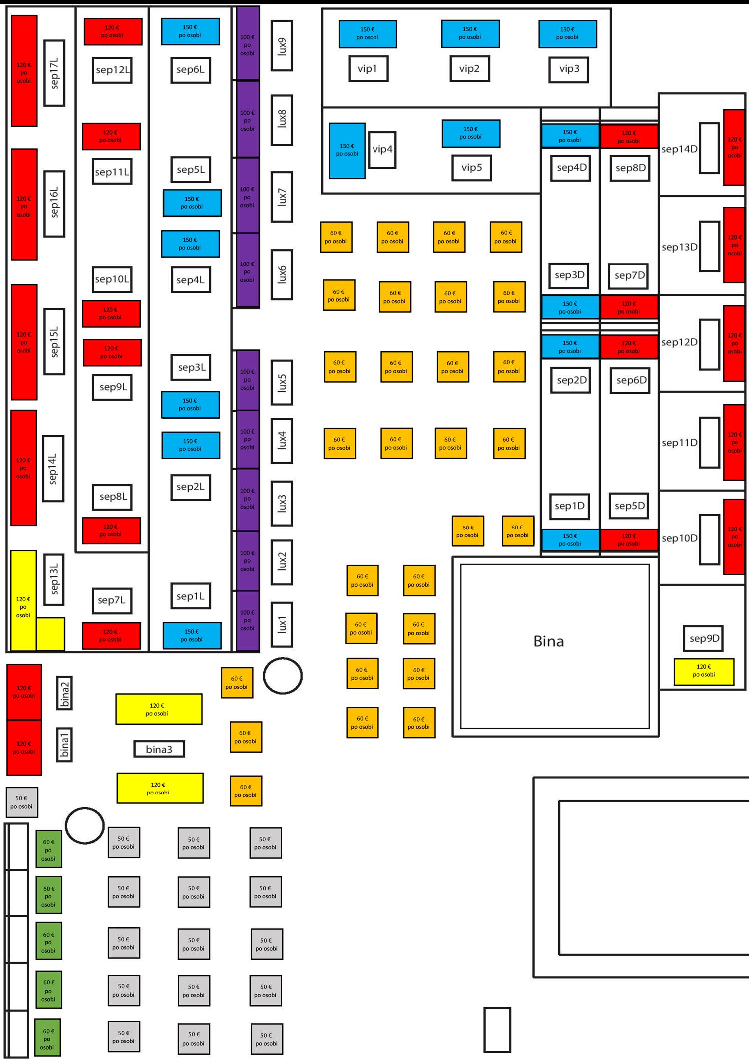 klub kasina nova godina mapa sedenja