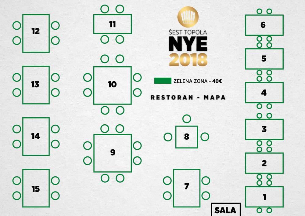 restoran sest topola mapa