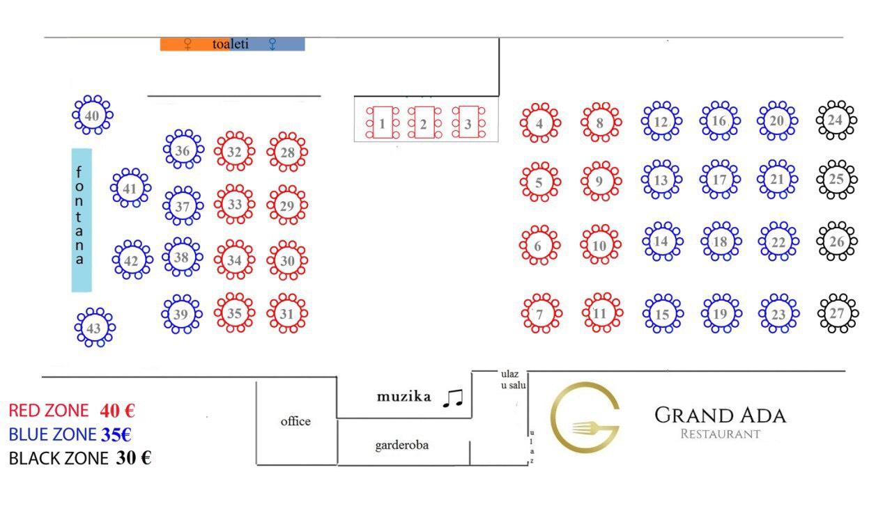 mapa restoran grand ada