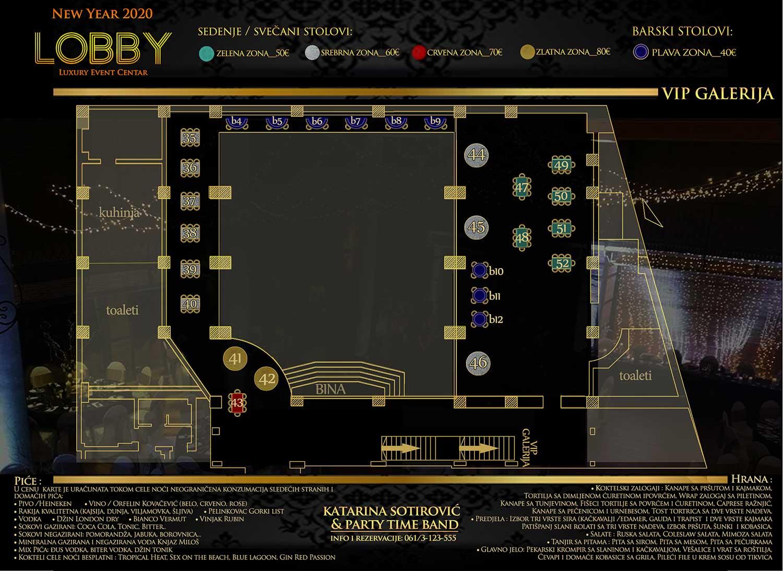 restoran lobby nova godina mapa sedenja vip galerija