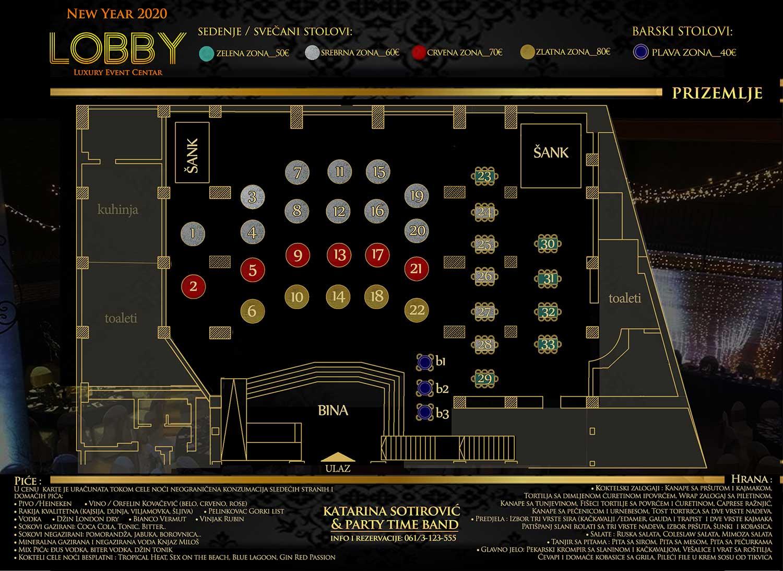 restoran lobby nova godina mapa sedenja