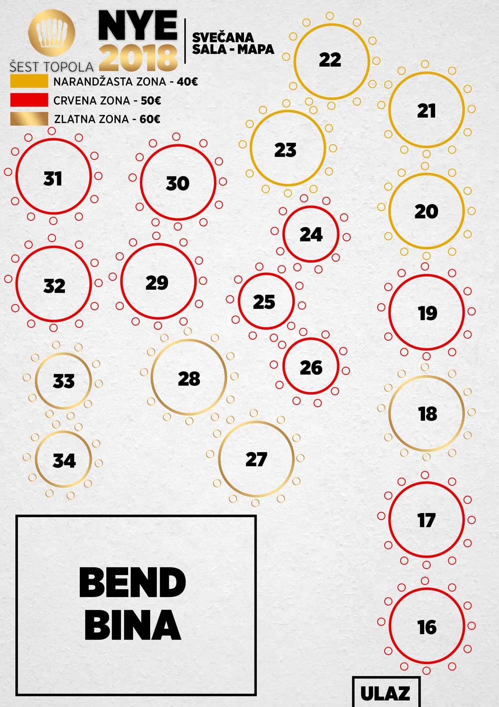 mapa restoran sest topola nova godina