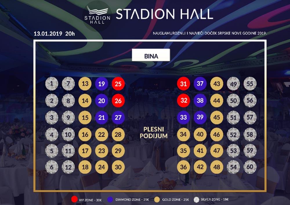 restoran stadion hall srpska nova godina mapa