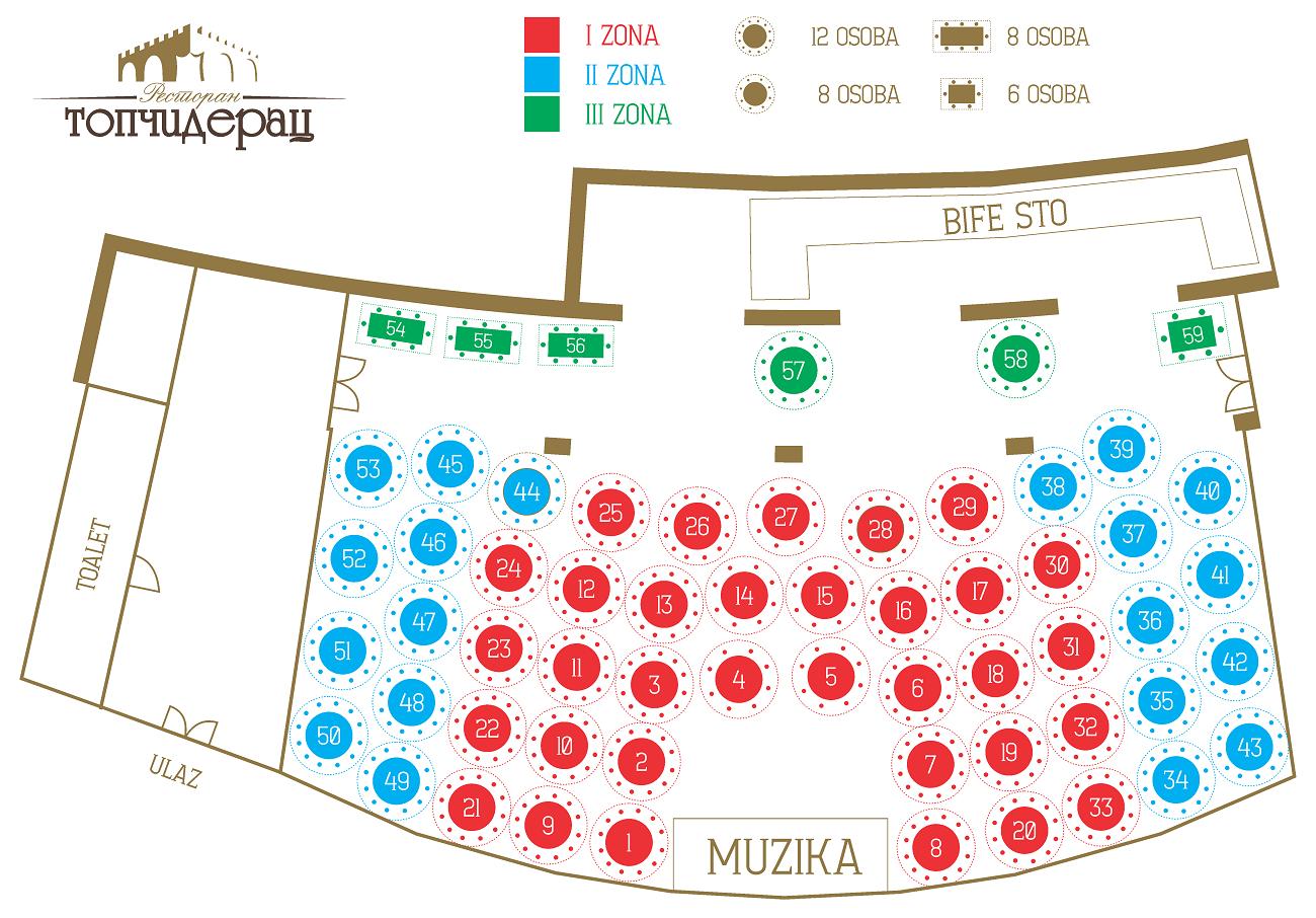 RESTORAN TOPCIDERAC MAPA