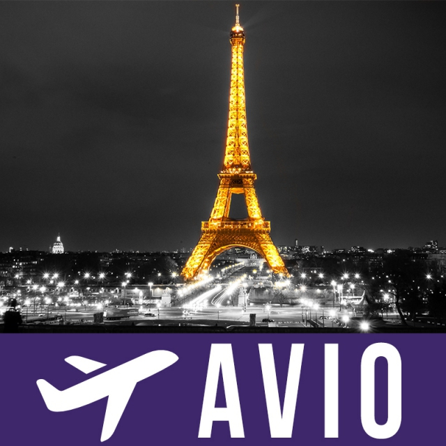 Pariz 5 dana avion doček Nove Godine
