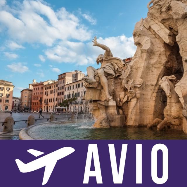 Rim  6 dana avion doček Nove godine