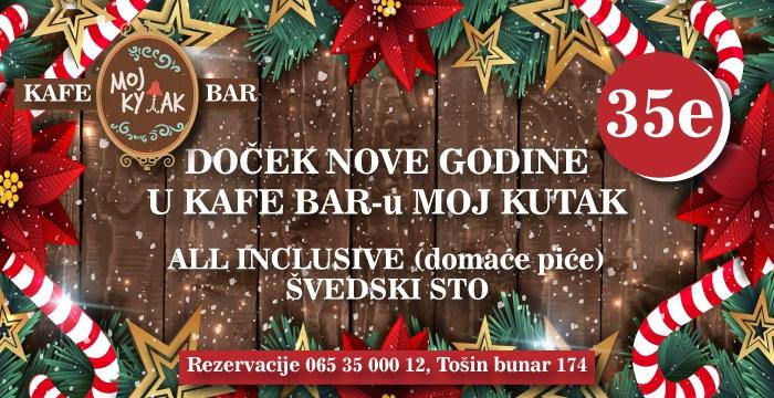 Arhiva:  Kafe bar Moj kutak Doček 2017