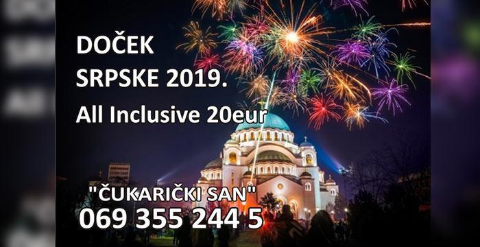 restoran Cukaricki San srpska nova godina